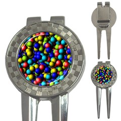 Colorful Balls 3 In 1 Golf Divot by LalyLauraFLM