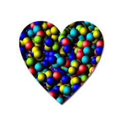 Colorful balls Magnet (Heart) by LalyLauraFLM