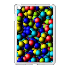 Colorful balls Apple iPad Mini Case (White) by LalyLauraFLM