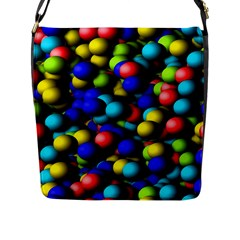 Colorful Balls Flap Closure Messenger Bag (large) by LalyLauraFLM
