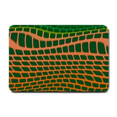 Distorted Rectangles Small Doormat by LalyLauraFLM