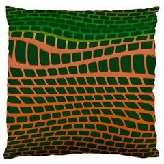 Distorted Rectangles Large Cushion Case (two Sides) by LalyLauraFLM