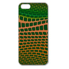 Distorted Rectangles Apple Seamless Iphone 5 Case (clear) by LalyLauraFLM