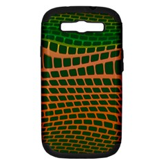 Distorted rectangles Samsung Galaxy S III Hardshell Case (PC+Silicone) by LalyLauraFLM