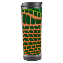 Distorted Rectangles Travel Tumbler by LalyLauraFLM