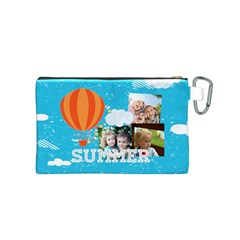 Summer By Summer Time    Canvas Cosmetic Bag (small)   Wwnea3qmk3yj   Www Artscow Com Back