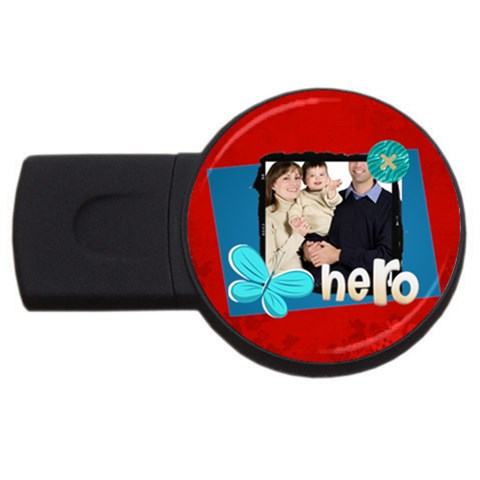 Dad By Dad   Usb Flash Drive Round (1 Gb)   Pfc3wsynapaq   Www Artscow Com Front