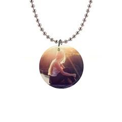 Boho Blonde Button Necklace by boho