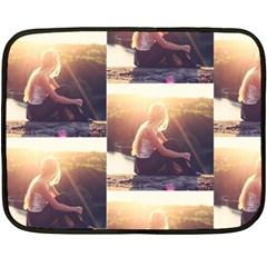 Boho Blonde Mini Fleece Blanket (two Sided) by boho
