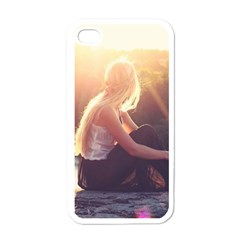 Boho Blonde Apple Iphone 4 Case (white) by boho