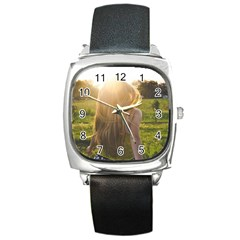 Sophia Square Leather Watch by boho