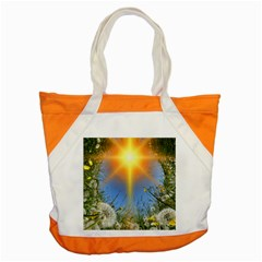 Dandelions Accent Tote Bag by boho