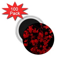 Dark Red Flower 1 75  Button Magnet (100 Pack) by dflcprints