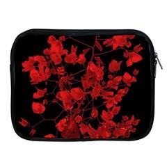 Dark Red Flower Apple Ipad Zippered Sleeve by dflcprints