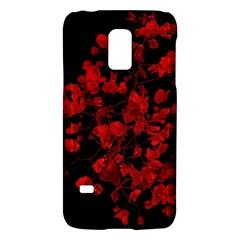 Dark Red Flower Samsung Galaxy S5 Mini Hardshell Case  by dflcprints