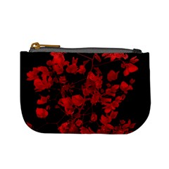 Dark Red Flower Coin Change Purse by dflcprints