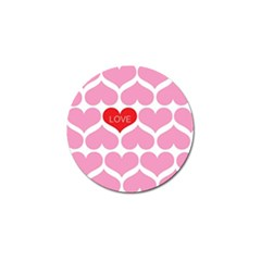 One Love Golf Ball Marker by Kathrinlegg