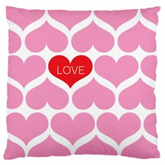 One Love Large Cushion Case (two Sided)  by Kathrinlegg