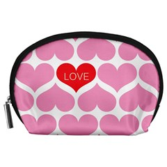 One Love Accessory Pouch (large) by Kathrinlegg
