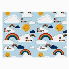 Be Happy Repeat Glasses Cloth (large, Two Sided) by Kathrinlegg