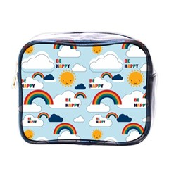 Be Happy Repeat Mini Travel Toiletry Bag (one Side) by Kathrinlegg