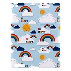 Be Happy Repeat Apple iPad 3/4 Hardshell Case by Kathrinlegg