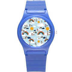 Be Happy Repeat Plastic Sport Watch (small) by Kathrinlegg