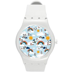 Be Happy Repeat Plastic Sport Watch (medium) by Kathrinlegg