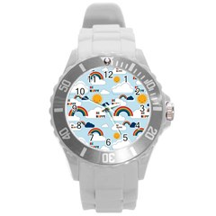 Be Happy Repeat Plastic Sport Watch (large) by Kathrinlegg