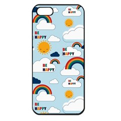 Be Happy Repeat Apple Iphone 5 Seamless Case (black) by Kathrinlegg