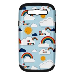 Be Happy Repeat Samsung Galaxy S Iii Hardshell Case (pc+silicone) by Kathrinlegg