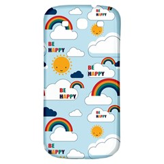 Be Happy Repeat Samsung Galaxy S3 S Iii Classic Hardshell Back Case by Kathrinlegg