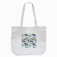 Be Happy Repeat Tote Bag (white) by Kathrinlegg