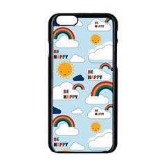 Be Happy Repeat Apple Iphone 6 Black Enamel Case by Kathrinlegg
