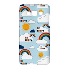 Be Happy Repeat Samsung Galaxy A5 Hardshell Case  by Kathrinlegg