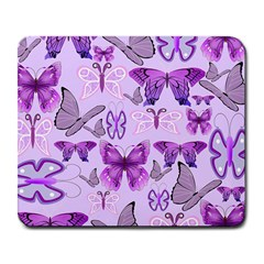 Purple Awareness Butterflies Large Mouse Pad (rectangle) by FunWithFibro