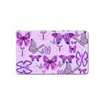 Purple Awareness Butterflies Magnet (Name Card)