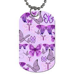 Purple Awareness Butterflies Dog Tag (one Sided) by FunWithFibro