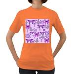Purple Awareness Butterflies Women s T-shirt (Colored)