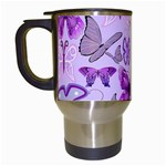 Purple Awareness Butterflies Travel Mug (White)