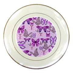 Purple Awareness Butterflies Porcelain Display Plate by FunWithFibro