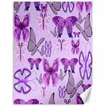 Purple Awareness Butterflies Canvas 12  x 16  (Unframed)