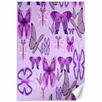 Purple Awareness Butterflies Canvas 12  x 18  (Unframed)