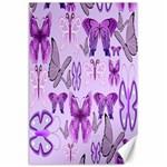 Purple Awareness Butterflies Canvas 24  x 36  (Unframed)