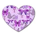 Purple Awareness Butterflies Mouse Pad (Heart)