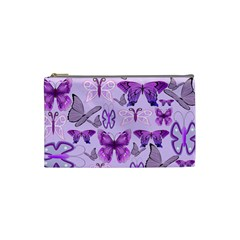 Purple Awareness Butterflies Cosmetic Bag (small) by FunWithFibro