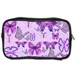 Purple Awareness Butterflies Travel Toiletry Bag (One Side)