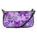 Purple Awareness Butterflies Evening Bag