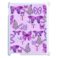 Purple Awareness Butterflies Apple Ipad 2 Case (white) by FunWithFibro