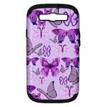 Purple Awareness Butterflies Samsung Galaxy S III Hardshell Case (PC+Silicone)